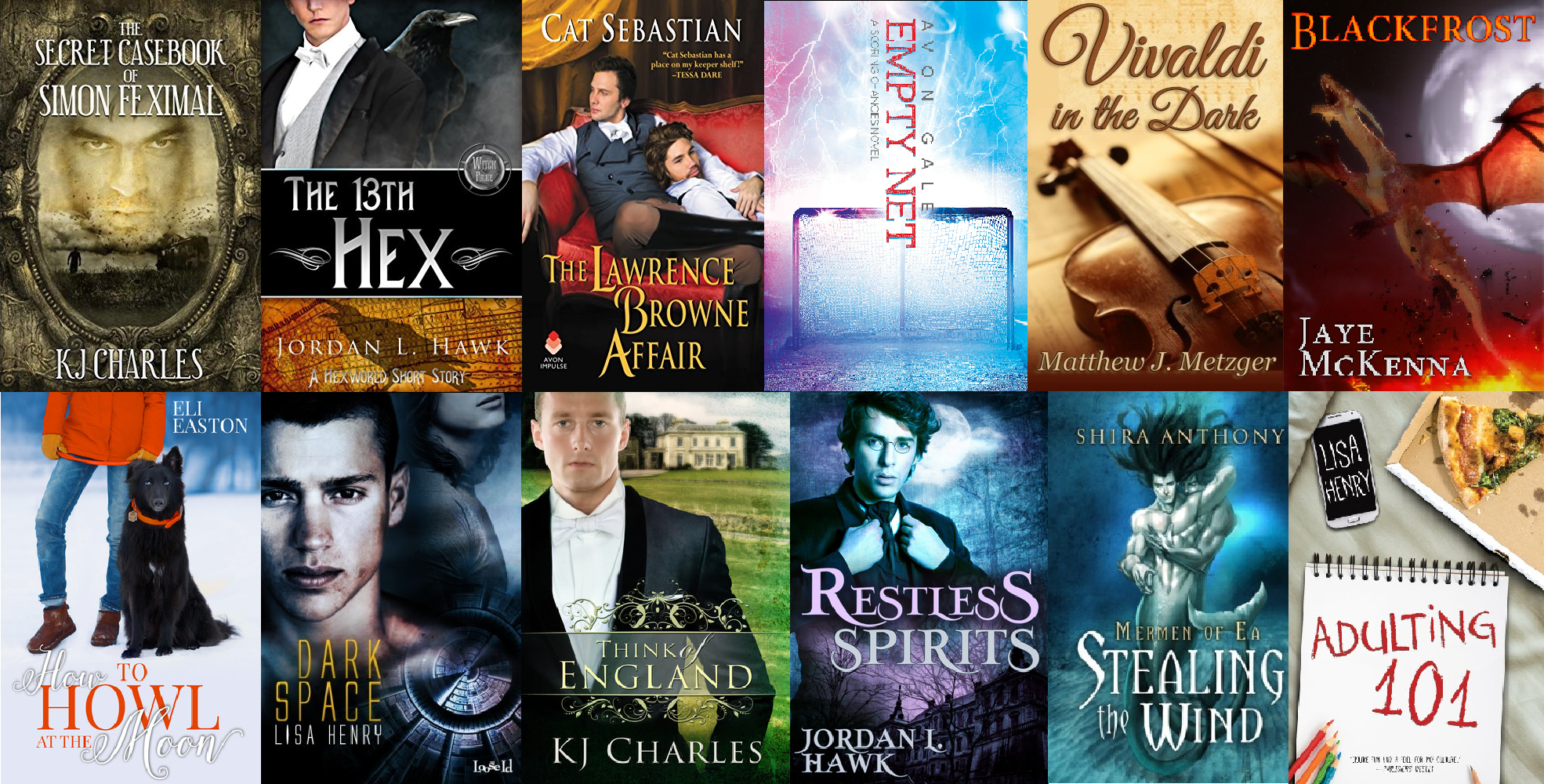 Twelve books/series I discovered during my second year as a Romance reader.